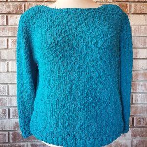 VINTAGE Crystal Bright Blue Sweater